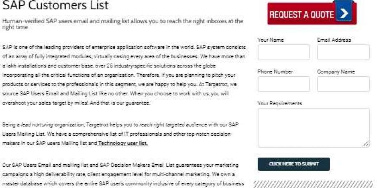 SAP Customers List